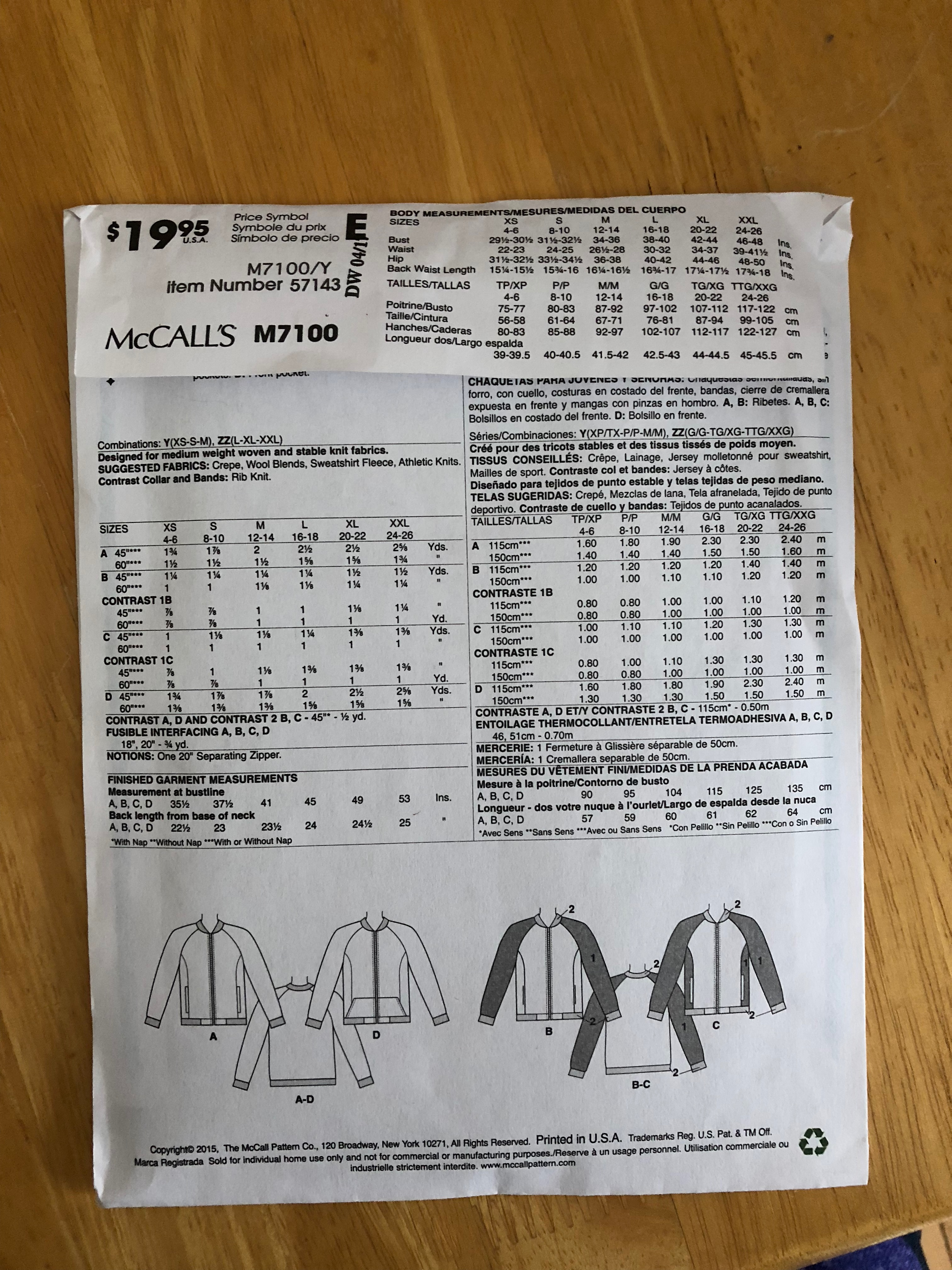 How to read a sewing pattern envelope|Chambraybluesblog|Chambrayblues.com