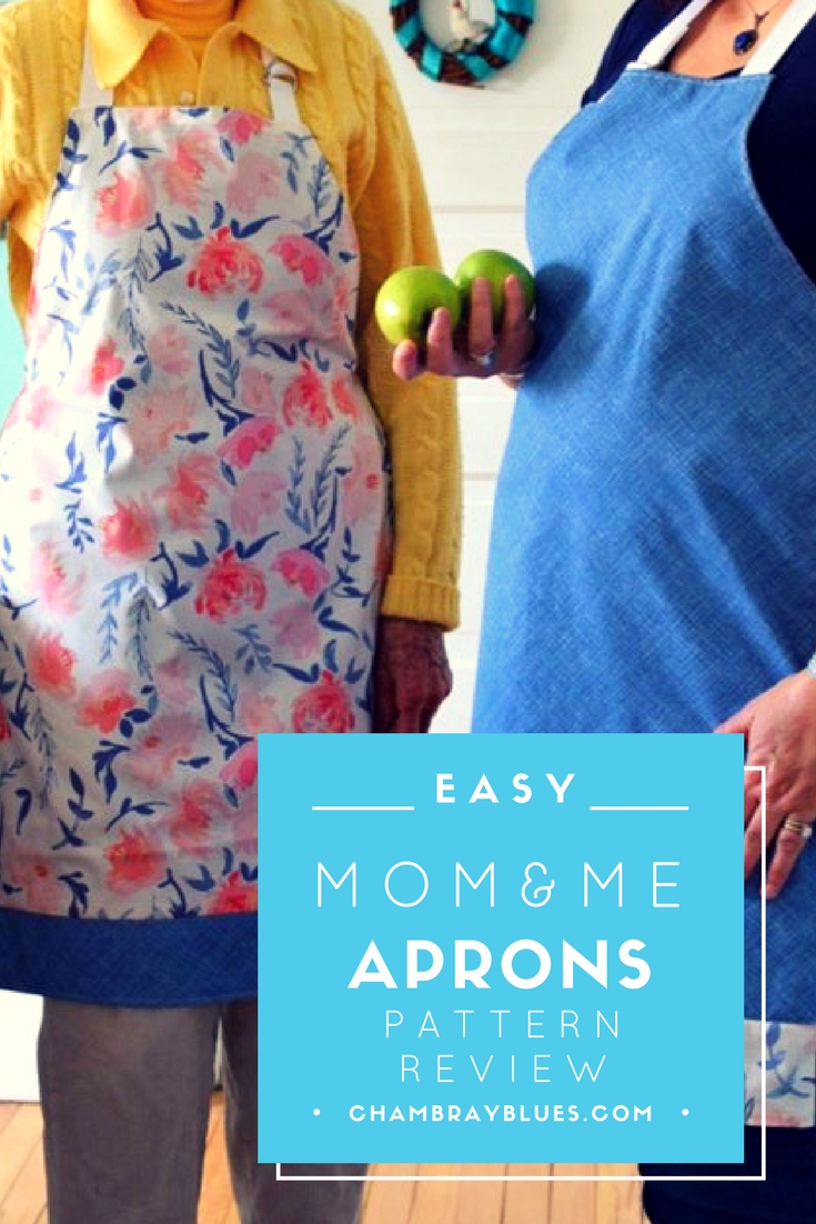 Sweet Mom and Me Apron Pattern Review|Chambraybluesblog|chambrayblues.com
