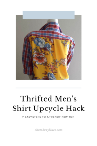 Men's Shirt Upcycle Project