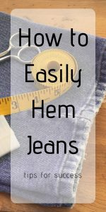 How to Easily Hem Jeans : Tips for Success | Chambray Blues | www.chambrayblues.com