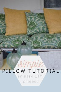 Simple Pillow Tutorial for the Beginner Sewer | Chambray Blues | www.chambrayblues.com